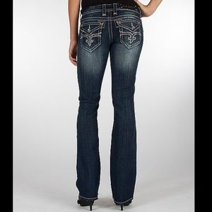Rock Revival Evelyn boot sequin rhinestone jeans